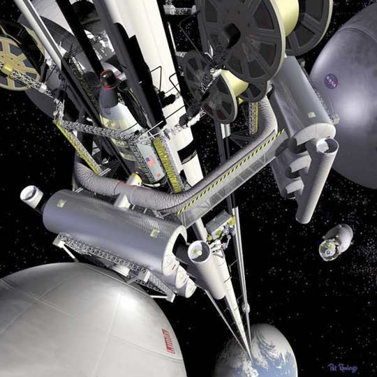 Space Elevator; Credit: NASA
