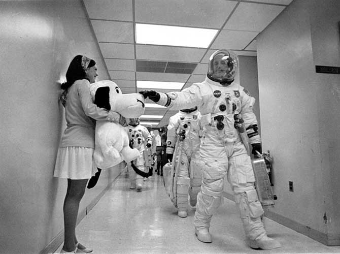 Snoopy und die Apollo-10-Crew; Credit: NASA