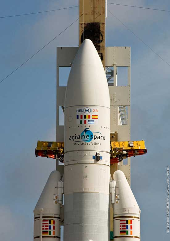Helios 2B Start; Credit: Arianespace