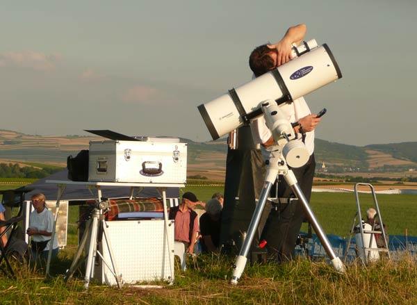 Alexander Pikhard (WAA) auf der Suche nach der Venus