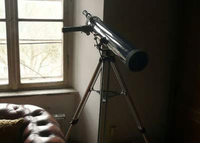 Teleskop im Lesesaal; Credit: Nox